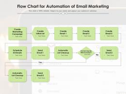 Flow Chart for Automation of Email Marketing