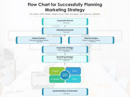 Flow Chart for Successfully Planning Marketing Strategy