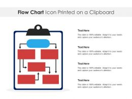 Flow Chart Icon Printed On A Clipboard