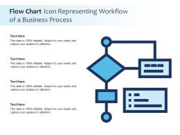 Flow Chart Icon Representing Workflow Of A Business Process