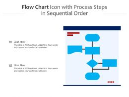 Flow Chart Icon With Process Steps In Sequential Order