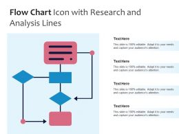 Flow Chart Icon With Research And Analysis Lines