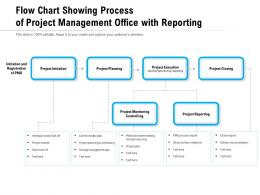 Flow Chart Showing Process Of Project Management Office With Reporting