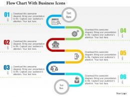 flow_chart_with_business_icons_flat_powerpoint_design_Slide01