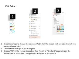 98236751 Style Circular Zig-Zag 6 Piece Powerpoint Presentation Diagram Infographic Slide