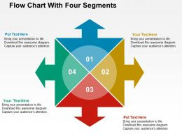 Flow Chart With Four Segments Flat Powerpoint Design
