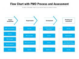 Flow Chart With PMO Process And Assessment