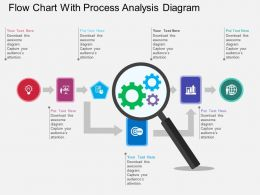 Flow Chart With Process Analysis Diagram Flat Powerpoint Design
