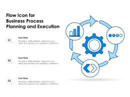Flow Icon For Business Process Planning And Execution