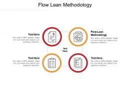 Flow Lean Methodology Ppt Powerpoint Presentation Summary Cpb