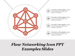 Flow Networking Icon Ppt Examples Slides