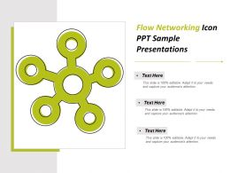 Flow Networking Icon Ppt Sample Presentations