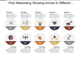 Flow Networking Showing Arrows In Different Directions