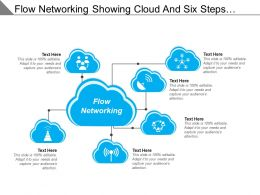 Flow Networking Showing Cloud And Six Steps Text Boxes