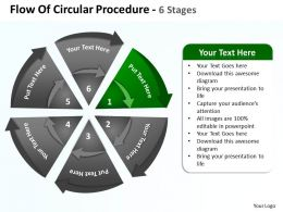 flow_of_circular_procedure_6_stages_shown_by_circling_arrows_and_pie_chart_powerpoint_templates_0712_Slide02