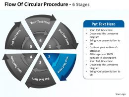 flow_of_circular_procedure_6_stages_shown_by_circling_arrows_and_pie_chart_powerpoint_templates_0712_Slide03