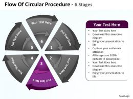 flow_of_circular_procedure_6_stages_shown_by_circling_arrows_and_pie_chart_powerpoint_templates_0712_Slide04