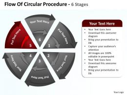 flow_of_circular_procedure_6_stages_shown_by_circling_arrows_and_pie_chart_powerpoint_templates_0712_Slide06
