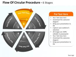 flow_of_circular_procedure_6_stages_shown_by_circling_arrows_and_pie_chart_powerpoint_templates_0712_Slide07