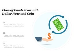 Flow Of Funds Icon With Dollar Note And Coin