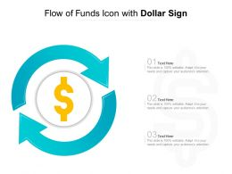 Flow Of Funds Icon With Dollar Sign