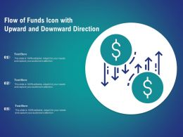 Flow Of Funds Icon With Upward And Downward Direction