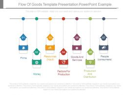 Flow Of Goods Template Presentation Powerpoint Example