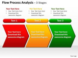 flow process analysis 3 stages powerpoint diagrams presentation slides graphics 0912