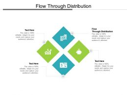 Flow Through Distribution Ppt Powerpoint Presentation Infographics Vector Cpb