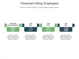Flowchart Hiring Employees Ppt Powerpoint Presentation Gallery Infographics Cpb