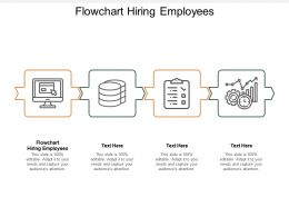 Flowchart Hiring Employees Ppt Powerpoint Presentation Icon Graphics Download Cpb
