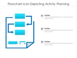 Flowchart Icon Depicting Activity Planning