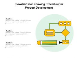 Flowchart Icon Showing Procedure For Product Development