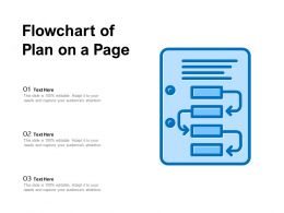 Flowchart Of Plan On A Page