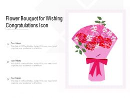 Flower Bouquet For Wishing Congratulations Icon