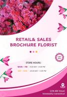 Flower Delivery Services Four Page Brochure Template