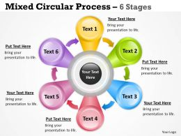 Flower Petal Circular Diagram With 6 Stages