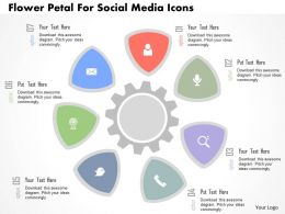Flower Petal For Social Media Icons Flat Powerpoint Design