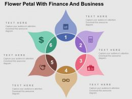 Flower Petal With Finance And Business Icons Flat Powerpoint Design