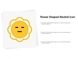 Flower Shaped Neutral Icon