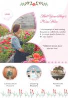 Flower Shop Flyer Two Page Brochure Template