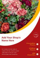 Flower Shop Promotion Two Page Brochure Template