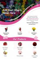 Flower Shop Two Page Brochure Template