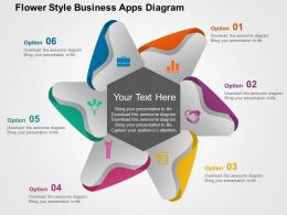 Flower Style Business Apps Diagram Flat Powerpoint Design