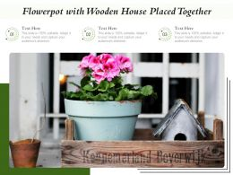 Flowerpot With Wooden House Placed Together
