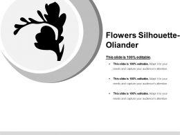Flowers Silhouette Oliander Ppt Slide Themes