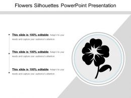 Flowers Silhouettes Powerpoint Presentation