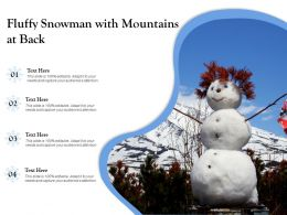 Fluffy Snowman With Mountains At Back