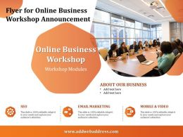 Flyer For Online Business Workshop Announcement