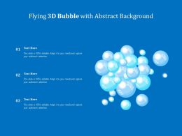 Flying 3d Bubble With Abstract Background